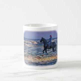 Enoying the surf coffee mug