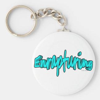 Enrapturing Basic Round Button Keychain