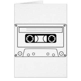 Enregistreur à cassettes carte de vœux