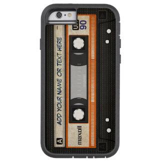 Enregistreur à cassettes de musique de la vieille coque iPhone 6 tough xtreme
