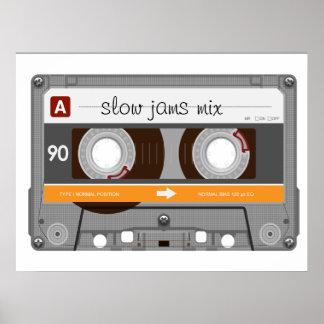 Enregistreur à cassettes de vieille école poster