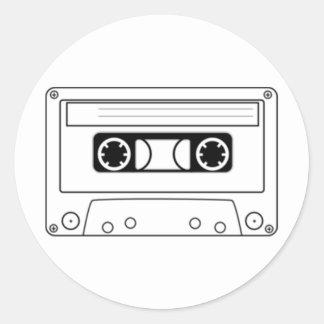 Enregistreur à cassettes sticker rond