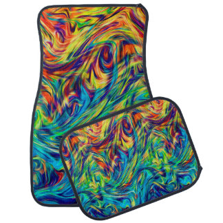 Ensemble de couleurs de fluide de tapis de voiture