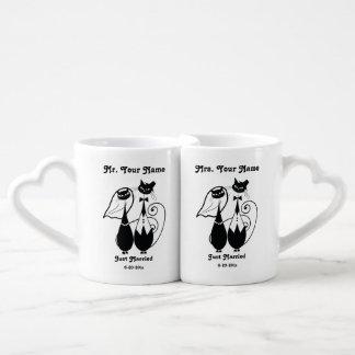 Ensemble de Personalized Mug de M. et de Mme Just Mugs Amoureux