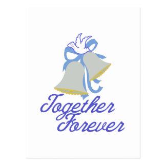 Ensemble pour toujours carte postale