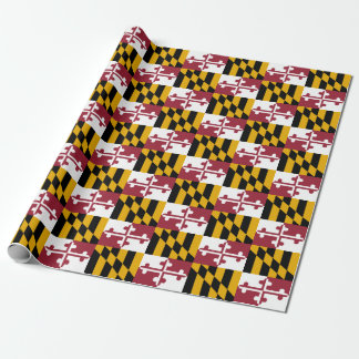 Ensign Of Maryland Tiled Pattern Wrapping Paper