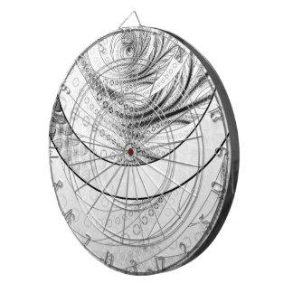Enso, a Perfect Black and White Zen Fractal Circle Dartboard