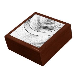 Enso, a Perfect Black and White Zen Fractal Circle Gift Box