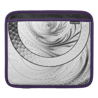 Enso, a Perfect Black and White Zen Fractal Circle iPad Sleeve