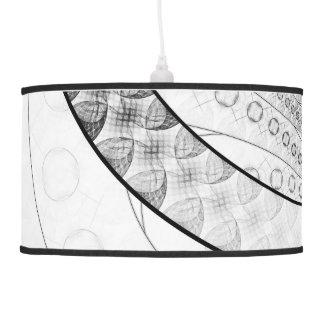 Enso, a Perfect Black and White Zen Fractal Circle Pendant Lamp
