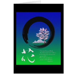 Enso circle and Zen wisdom by Ryokan Card