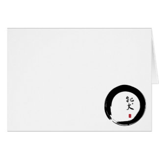 Enso with Japanese for Mean Girl Note Card