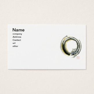 Enso with Pax, Kanji for peace Business Card