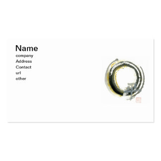 Enso with Pax, Kanji for peace Pack Of Standard Business Cards