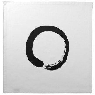 Ensō Zen Circle Calligraphy Napkin