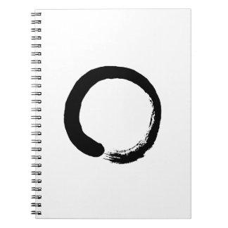 Ensō Zen Circle Calligraphy Spiral Notebook