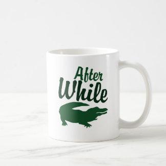 Ensuite tandis que tasses à café