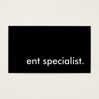 ent specialist. business card