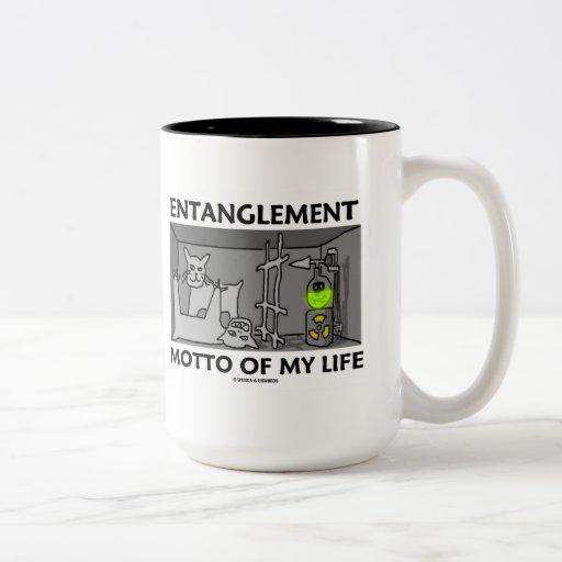 Entanglement Motto Of My Life (Quantum Physics) Mugs