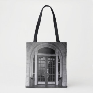 Enter If You Dare Grayscale Tote Bag