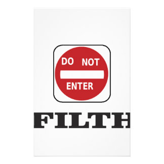enter not filth stationery paper