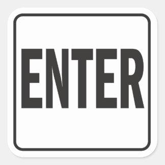 Enter sticker for entrance door