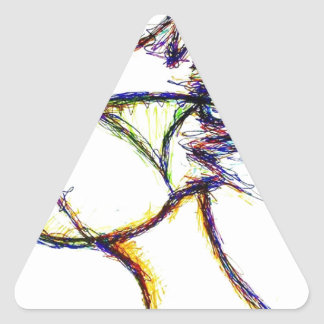 Enter the Fire Mind by: Luminosity Triangle Sticker