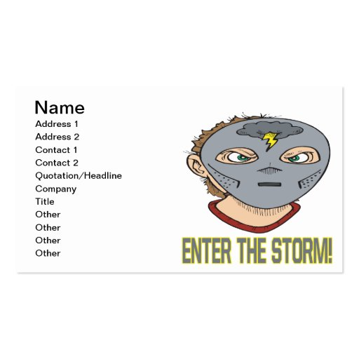 Enter The Storm Business Cards