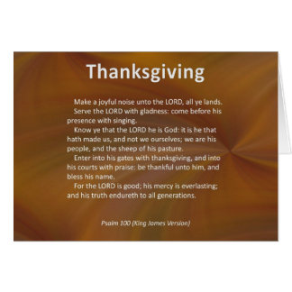 Enter With Thanksgiving & Blessing Psalm 100 Greeting Card