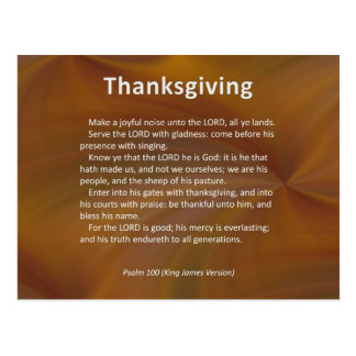 Enter With Thanksgiving & Blessing Psalm 100 Postcard