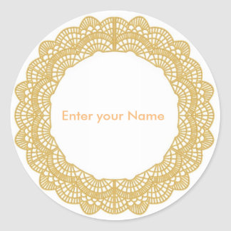 Enter your Name Classic Round Sticker, Glossy Round Sticker