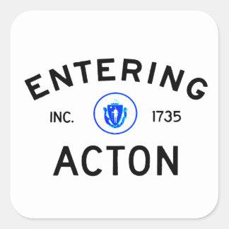 Entering Acton Square Sticker