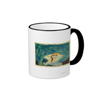 Entering an ice cave in Paradise Glacier Coffee Mug