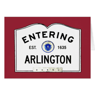 Entering Arlington Card