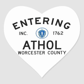Entering Athol Heart Sticker
