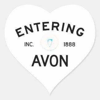 Entering Avon Heart Sticker