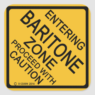 Entering Baritone Zone Square Sticker