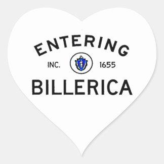 Entering Billerica Heart Sticker