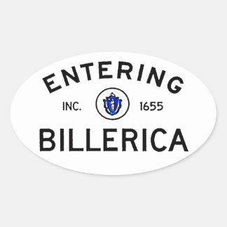 Entering Billerica Oval Sticker
