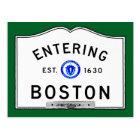 Entering Boston Postcard