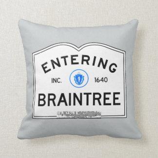 Entering Braintree Throw Pillow