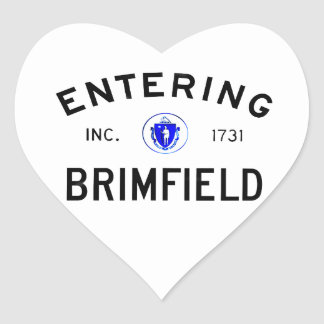 Entering Brimfield Heart Sticker