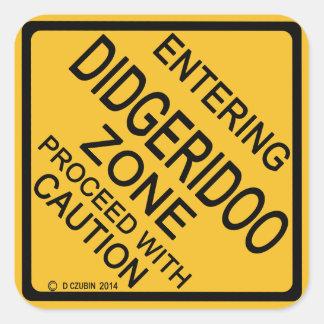 Entering Didgeridoo Zone Square Sticker