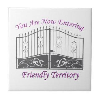 Entering Friendly Territory Ceramic Tile
