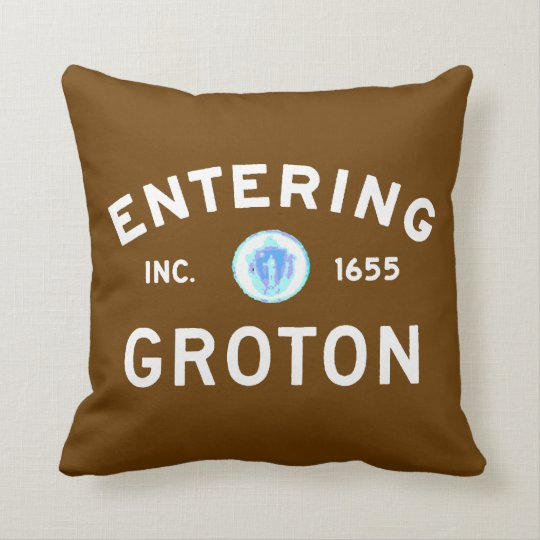 Entering Groton Throw Pillow