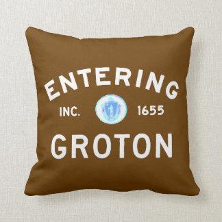 Entering Groton Throw Pillow