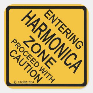 Entering Harmonica Zone Square Sticker
