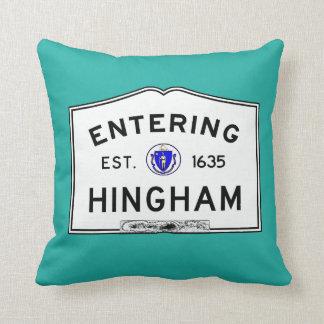 Entering Hingham Throw Pillow