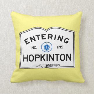 Entering Hopkinton Throw Pillow