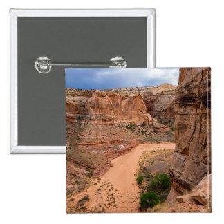Entering Horseshoe Canyon - Utah 2 Inch Square Button